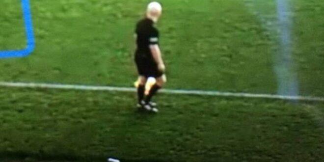 Cámara de IA confundió al balón con cabeza de jugador en un partido de futbol