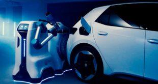 Volkswagen desarrolla robot autónomo para conectar carros eléctricos a la batería