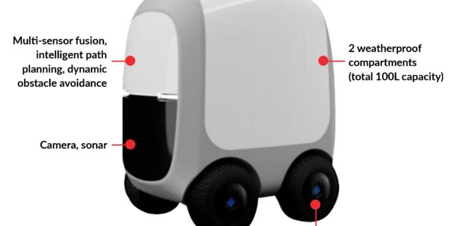 Gobierno de Singapur usa robots autónomos para entregar alimentos