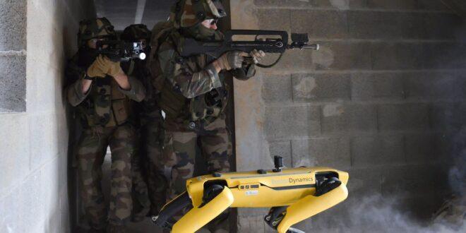 Francia entrena a robot en combate militar
